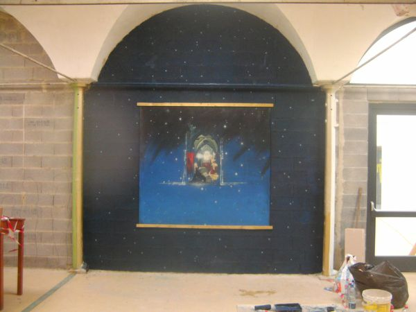 &quot&#x3B; Annonciation &quot&#x3B;, peinture rendant hommage à Matthias Grunenwald