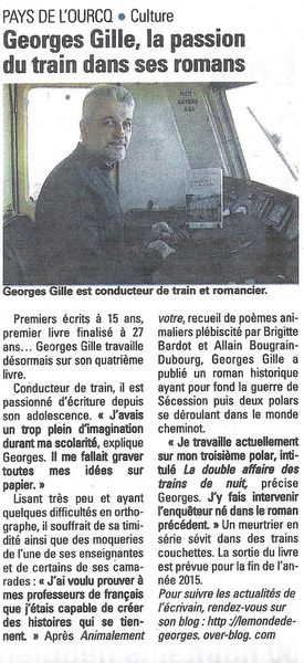 ARTICLE DE ROMAIN SEVILLANO PARU DANS LE JOURNAL &quot&#x3B;LA MARNE&quot&#x3B; DU 22 AVRIL