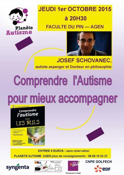 Comprendre l'autisme pour mieux accompagner - J. Schovanec - 1er oct 2015