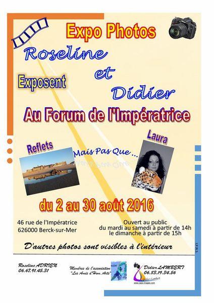 ROSELINE ADRIEN ...EXPOSE SES REFLETS (et bien d'autres choses)...au FORUM DE L'IMPERATRICE...