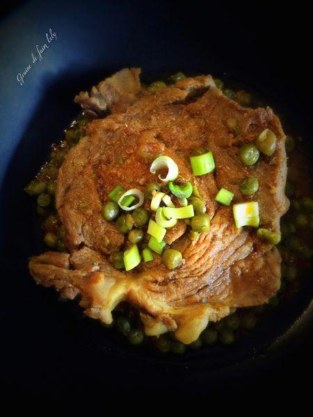 Porc aux petits pois sauce curry