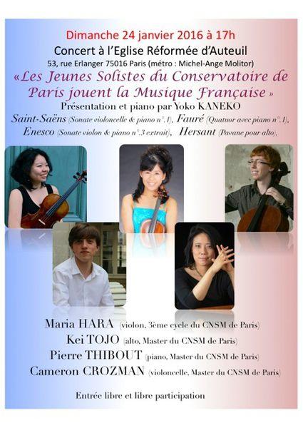 Musique et jeunes talents à Auteuil