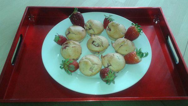 Muffins beurre de cacahuète et fraises