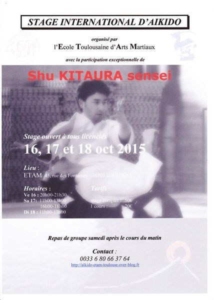 STAGE INTERNATIONAL DIRIGE PAR SHU KITAURA SENSEI
