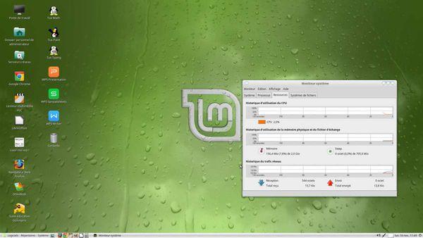 Ma distrib linux Mint Mate 17.2 pour le recyclage