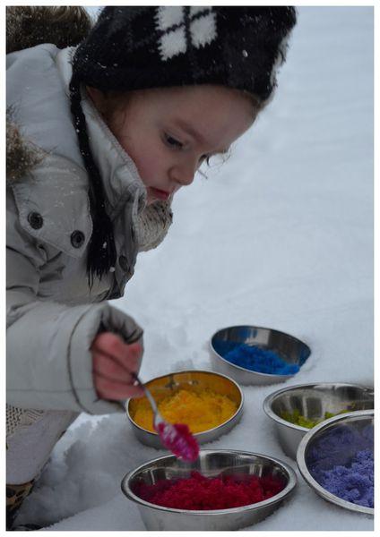 neige colorée!