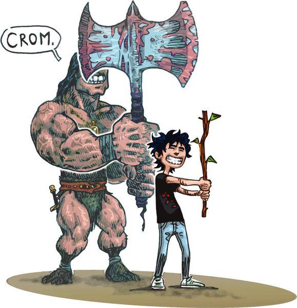 L'ado et le Barbare