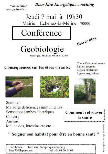 Conférence le 7 mai à Echenoz