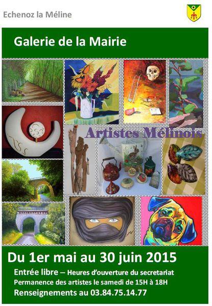 Galerie de la Mairie : Exposition du 1er mai au 30 juin 2015