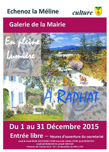 Galerie de la Mairie : Exposition du 1er au 31 décembre 2015