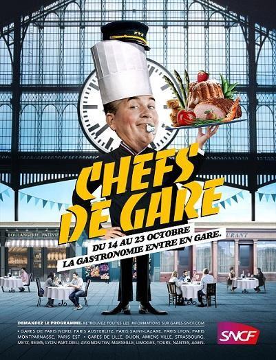 Gastronomie et Grands Chefs en gare de Limoges le 20 octobre
