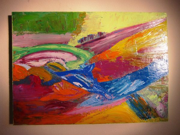 PEINTURE HUILE ABSTRACTION