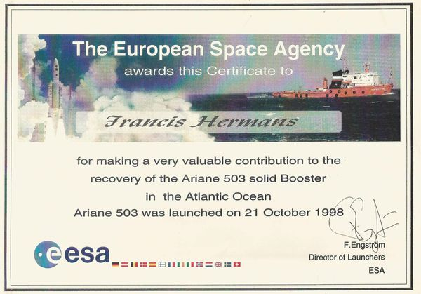 Ariane 503 or the story of my last offshore project