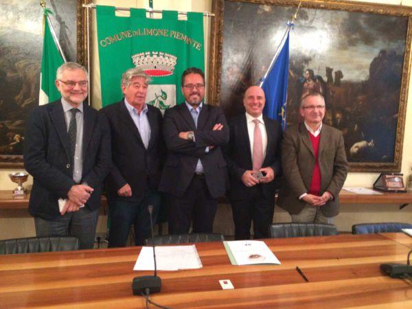 avec le Maire de Limone et mes collègues des régions Ligurie et Piémont