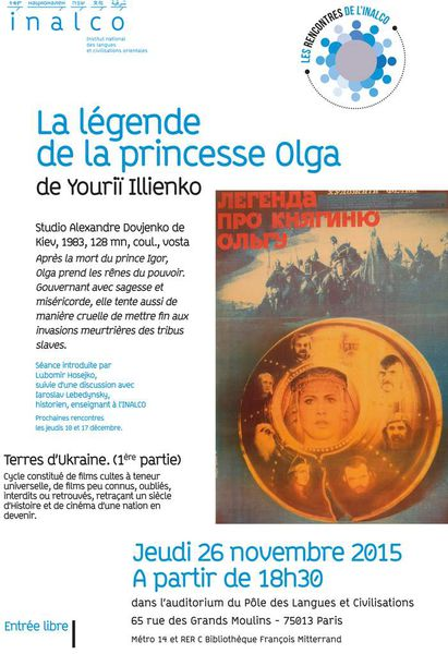 "Affiche de la projection du film ""Légende de la princesse Olga"""