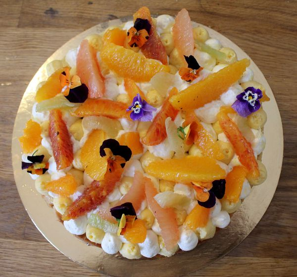 Entremets Agrumes Passion Gingembre