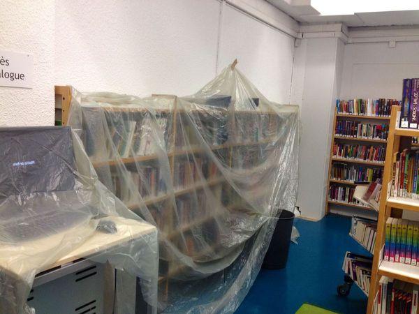 Paris : La bibliothèque Italie fermée jusqu'à nouvel ordre pour cause de pluie