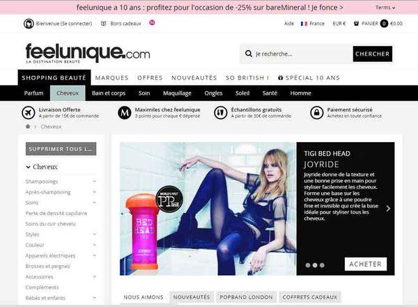 Un site de produits de beauté à découvrir...