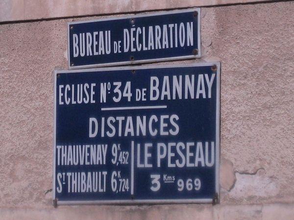 L'écluse de Boisrond, à Bannay.