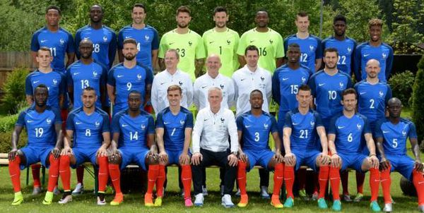 Photo officielle de l'équipe de France... Euro 2016