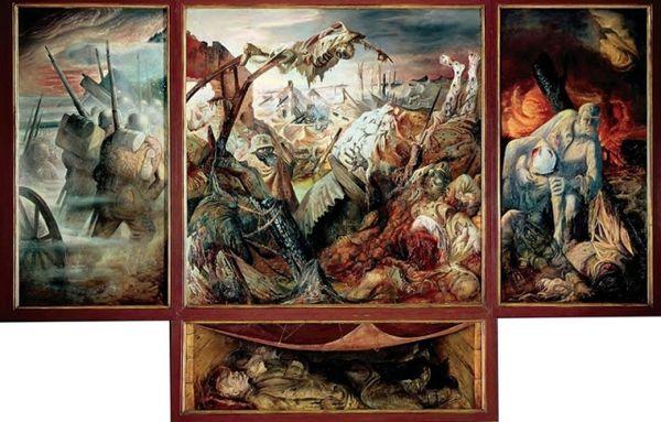 Otto DIX, La Guerre, 1929-1932.