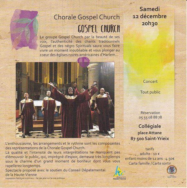 Gospel et négros spirituals à Saint-Yrieix