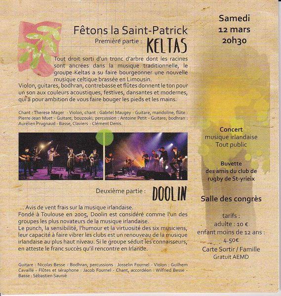 Saint-Yrieix fête la Saint-Patrick