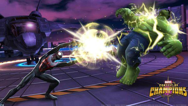 marvel contest of champion spiderman new skin area arène pvp vs