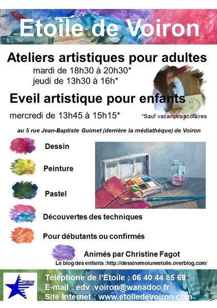 cours de peinture, dessin et pastel à l'Etoile