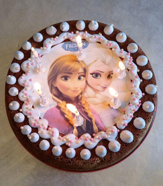 Un anniversaire reine des neiges avec les copines - Recette gateau reine des neiges facile ...