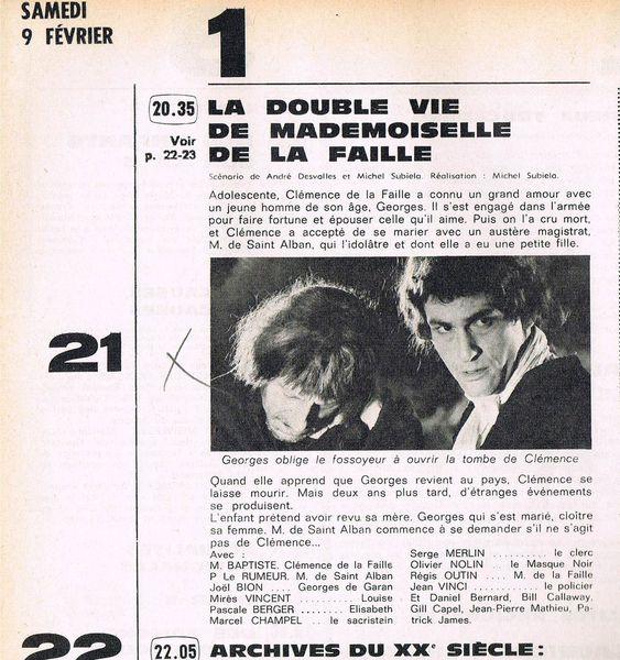 Article Télé Magazine 9 février 1974