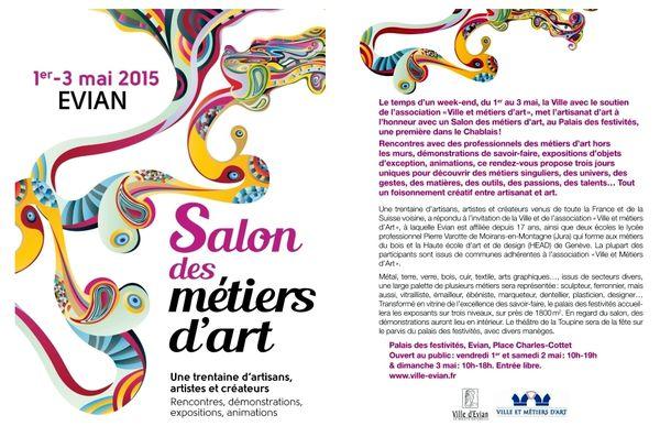 Willian Puel et Françoise Laporte, deux artisans de Millau Art et Savoir Faire invités au Salon d'Evian