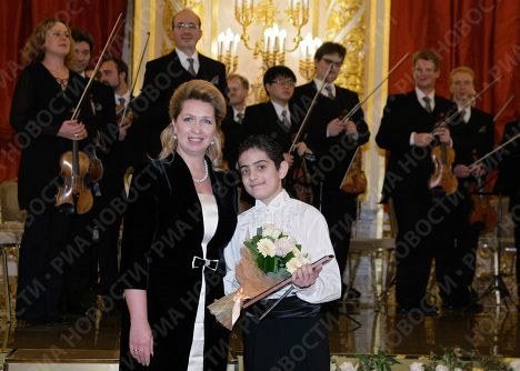 Svetlana Medvedeva au festival international des jeunes musiciens au Kremlin