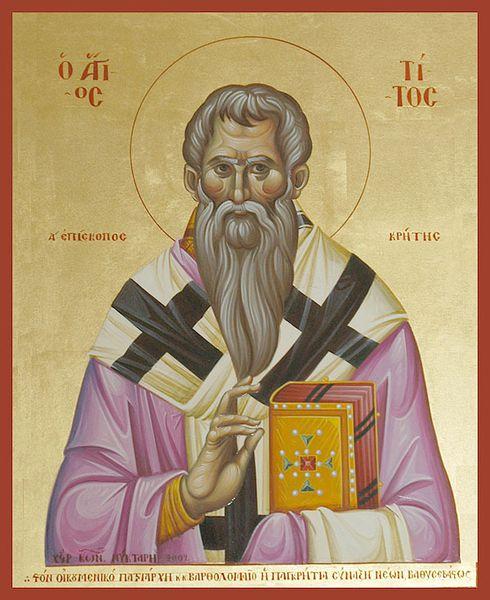 Saint Tite Apôtre des 70 et Eparque de Crète