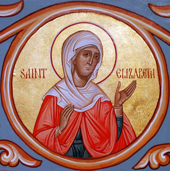 Fêté le 5 septembre : Sainte Juste Elizabeth la Mère de Saint Yoann le Baptiste