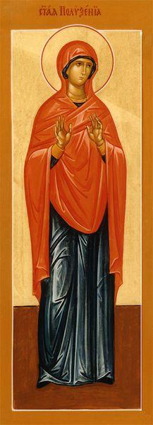 Sainte Polyxene la Disciple des saints apôtres, qui est décédée en Espagne