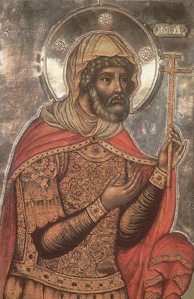 Saint Martyr Longin le Centurion, qui se tenait sous la Croix du Seigneur