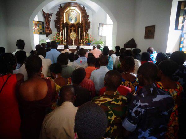 Pèlerinage des policiers et militaires au Mont Sion Gikungu