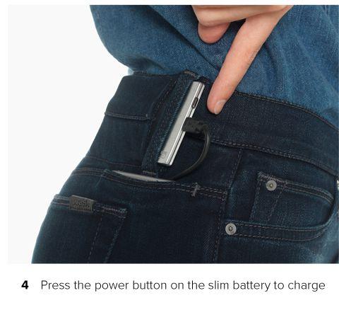 Recharger son smartphone … dans la poche de son jean ...