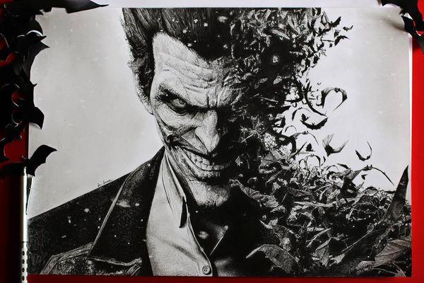 Le joker entre abstrait et r alisme - Le joker dessin ...