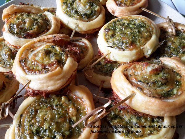 Sucettes feuilletées au Camembert et épices