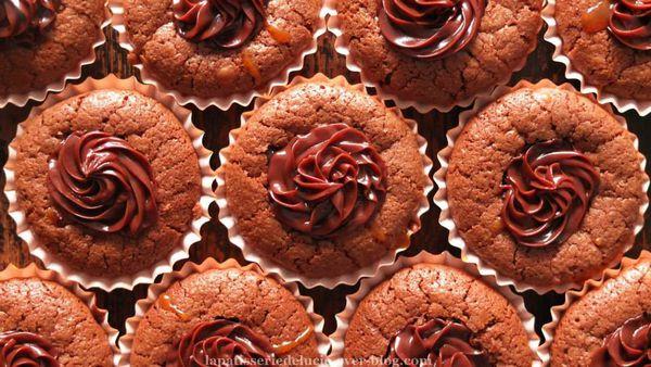 Cupcake chocolat et caramel beurre salé