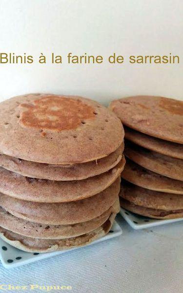 Blinis à la farine de sarrasin (gluten free)