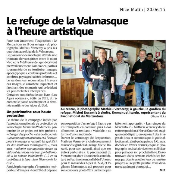 Valmasque : Le Mercantour au fil des refuges