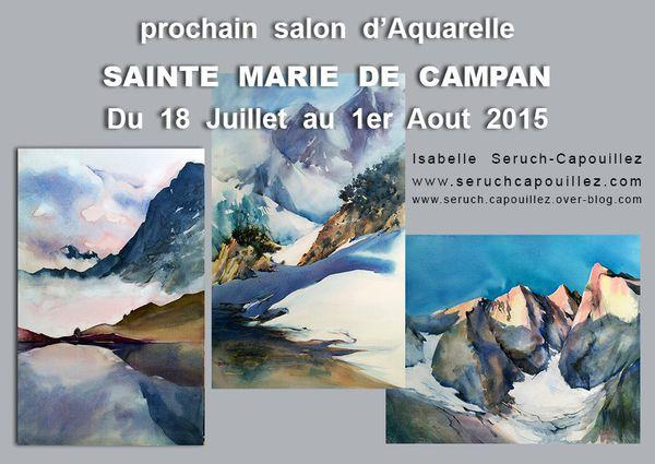 Salon d'aquarelle à Sainte Marie de Campan Hautes-Pyrénées
