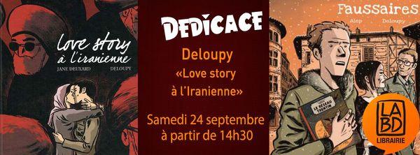 Deloupy en dédicace à la librairie la BD (Lyon)