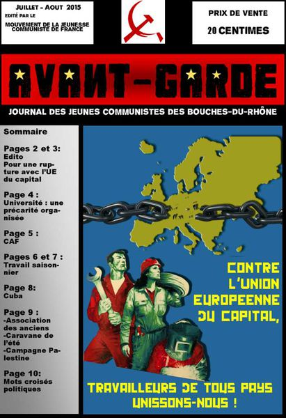 Le nouvel Avant-Garde 13 de Juillet-Aout 2015 paraît