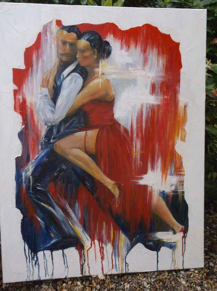 Amor Amor  peinture huile sur chassis toile lin 71.90.2cm