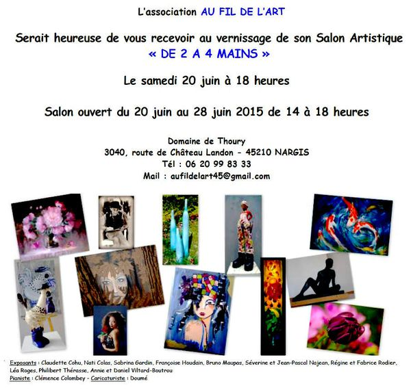 &quot&#x3B;Au Fil de l'Art&quot&#x3B; : Salon artistique &quot&#x3B;de 2 à 4 mains&quot&#x3B;
