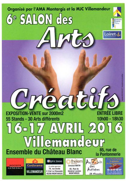 6ème Salon des ARTS CREATIFS       16-17 avril 2016